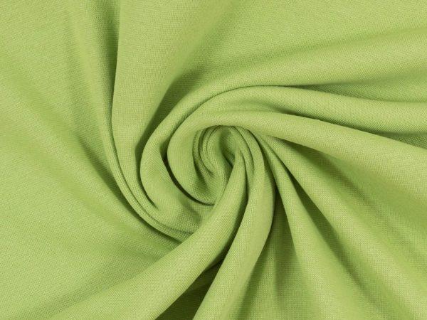 Glatter Bündchenstoff hellgrün