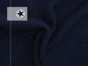 Wollstoff Strickoptik Stoff dunkelblau