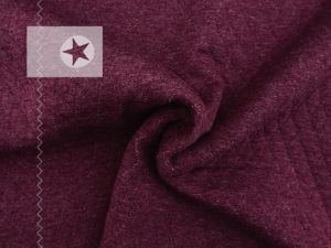 Steppsweat Steppstoff bordeaux