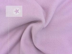 Baumwollfleece uni rosa flieder