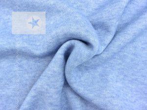Viskose Strick Strickstoff hellblau meliert