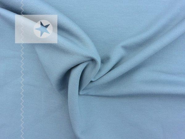 Sweatstoff angeraut uni dusty blue