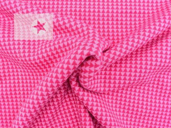 Jacquard Strick Dreiecke pink