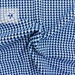 Jacquard Strick Dreiecke blau