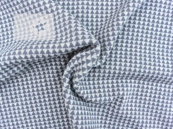 Jacquard Strick Dreiecke grau