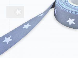 Gummiband Boxershorts 40 mm Sterne grau