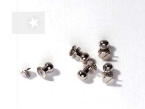 Kugelverschluss Taschenverschluss silber