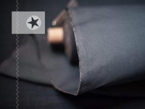 Dry Oilskin Baumwolle gewachst beschichtet grey