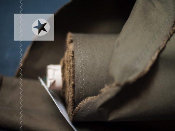 Dry Oilskin Baumwolle gewachst beschichtet khaki