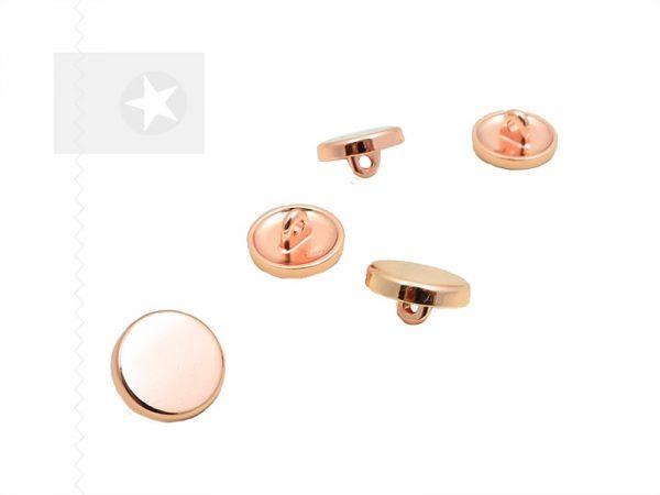 Knopf mit Öse aus Metall roségold kupfer