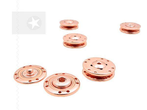 Druckknöpfe zum Einnähen Metall roségold