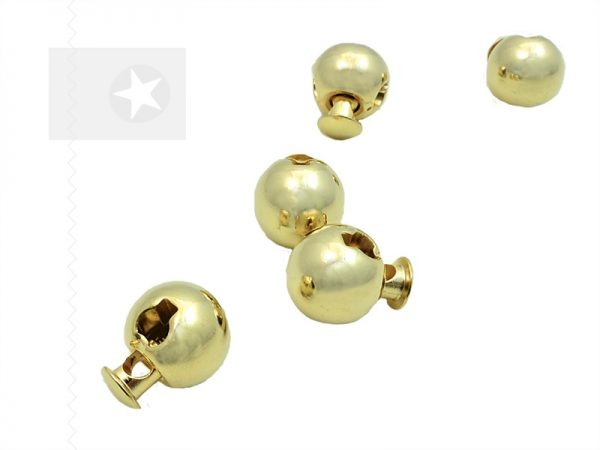 Kordelstopper aus Metall gold