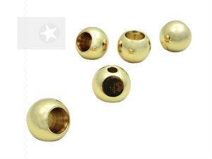 Kordelenden aus Metall gold