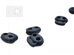 Kordelstopper aus Kunststoff dunkelblau