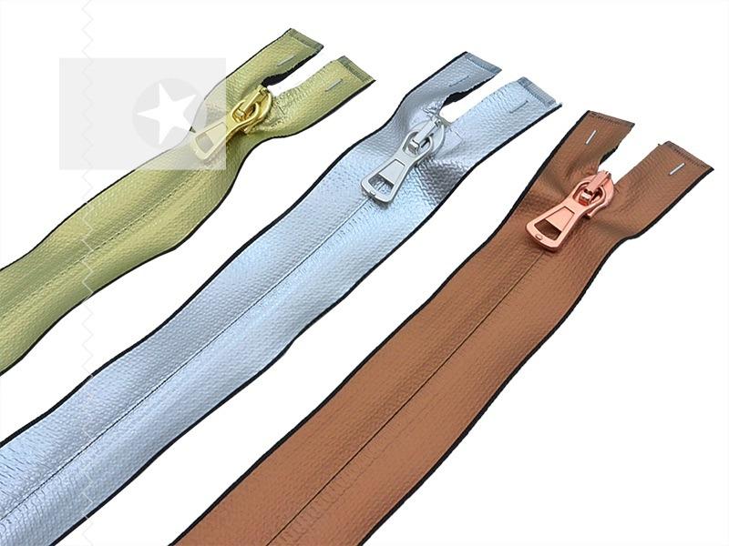 1 Reißverschluss teilbar 70 cm metallic