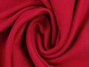 Glatter Bündchenstoff rot