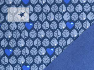 Softshell by Graziela Blätter jeansblau