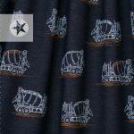lillestoff Jersey Betonmischer jeansblau