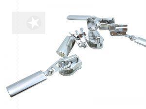 Reißverschluss Schieber Metall silber