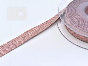 Hoodieband 15 mm Webband Fischgrät kupfer