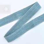 Hoodieband 15 mm Webband Fischgrät graublau