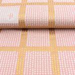 Baumwollstoff grafische Muster gold