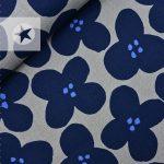 KOKKA Canvas Blumen blau