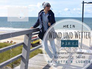 Mein Wind und Wetter Parka Papierschnitt Damen