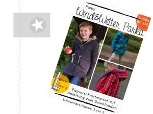 Wind und Wetter Parka Papierschnitt Kinder
