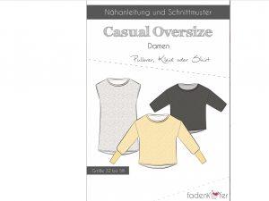 Schnittmuster Casual Oversize Shirt fadenkäfer