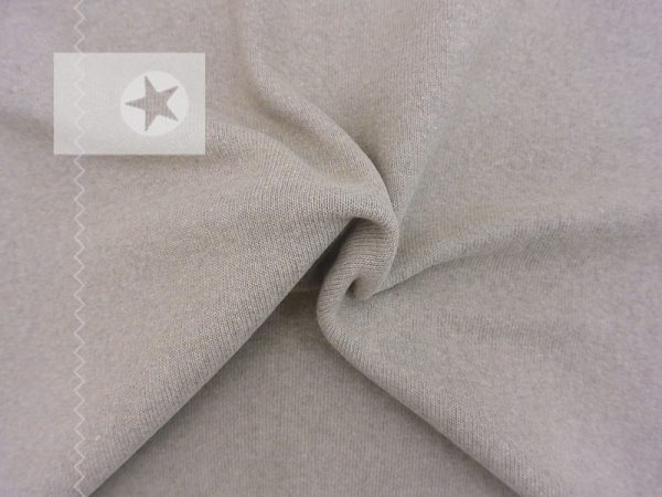 Feiner Strickstoff aus Baumwolle taupe