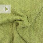 Zopfstrick Stoff kiwi grün