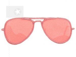 Applikation Sonnenbrille für Shirts Parkas Taschen