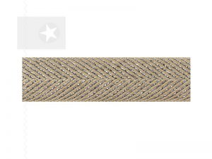 Hoodieband 15 mm Webband Fischgrät silber