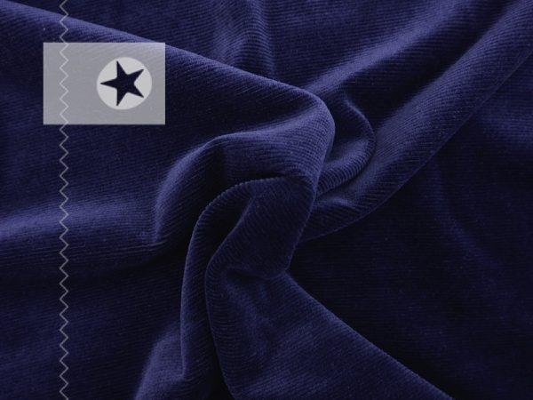 Stretch Feincord Cordjersey dunkelblau