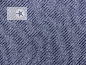 Grobstrick Bündchen blaugrau meliert