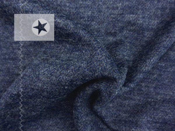 Tweed Stoff meliert blaugrau