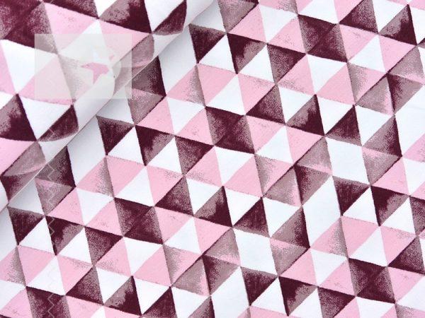 Sweatstoff angeraut Dreiecke bordeaux