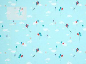 Jersey Stoff Mini Summer Luftballons mint