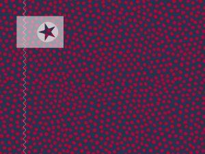 Baumwolle Stoff Pünktchen blau rot