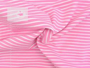 Jersey Streifen rosa weiß