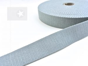 1 m Gurtband 30 mm grau silber
