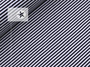 Jersey Streifen 5 mm dunkelblau weiß