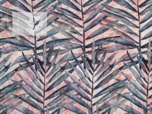 Viskose Jersey Phinchen Watercolor Palm Leaves