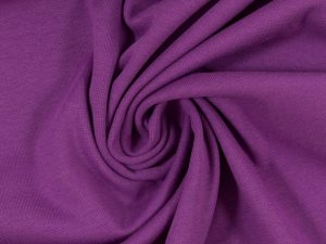 Glatter Bündchenstoff violett