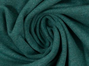 Glatter Bündchenstoff dunkelgrün meliert