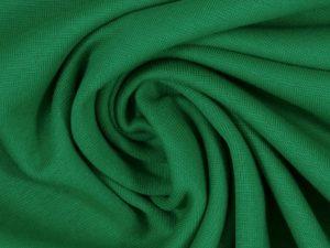 Glatter Bündchenstoff grasgrün