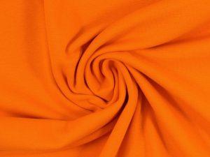 Glatter Bündchenstoff orange