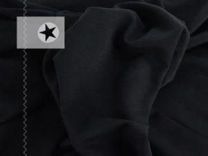 Sweatstoff angeraut uni schwarz
