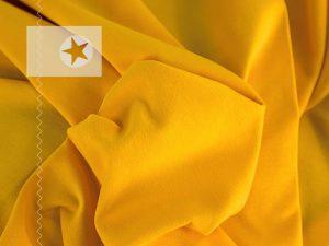 Bündchenstoff Schlauchware glatt gelb